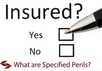 what are specified perils under a material damage insurance policy